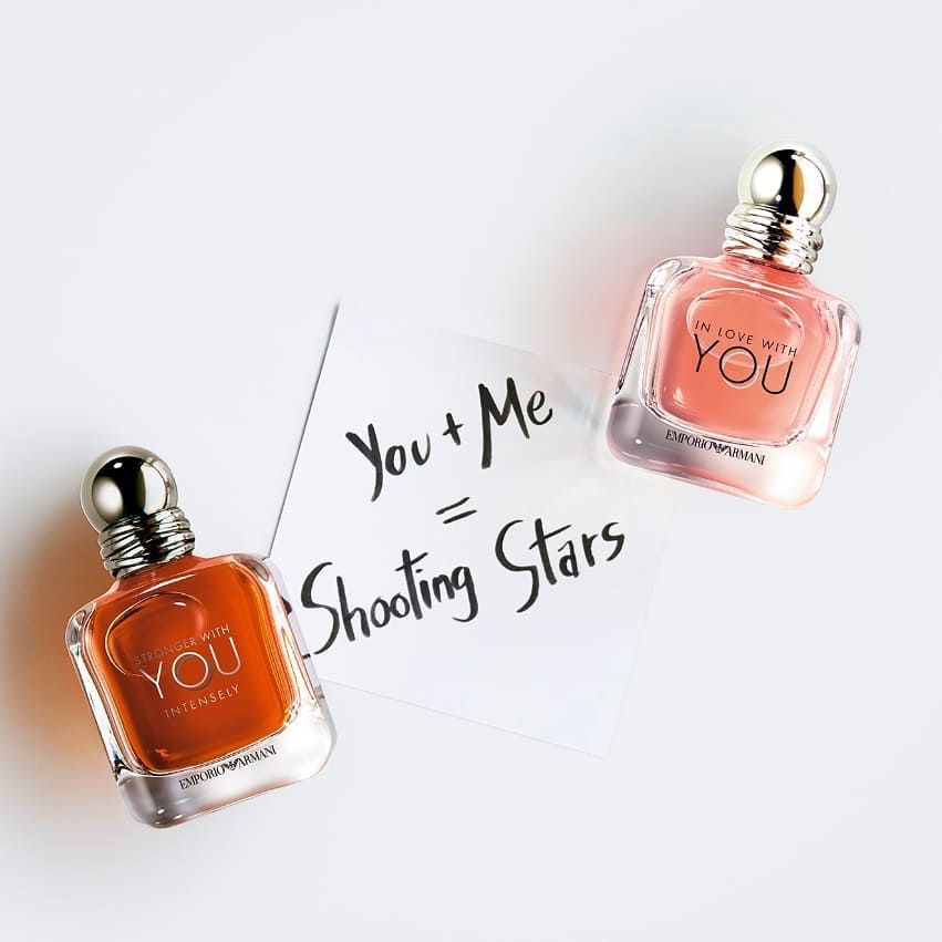 """27a85c4aaf ... Instagram: """"The perfect gift this Valentine's, for him or for her! New  from Giorgio Armani, In Love with You (for her) and Stronger with You  Intensely…"""""""