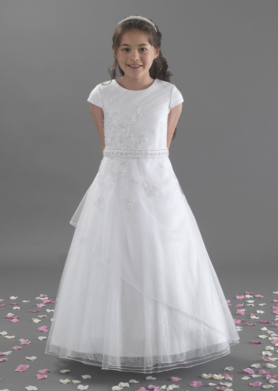 A linzi jay lexi beaded tulle first holy communion dress the occasion room a linzi jay lexi beaded tulle first holy communion dress ombrellifo Image collections