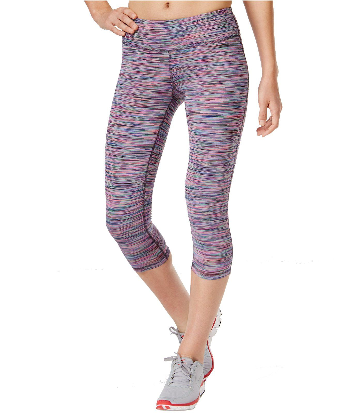 81c103c65f5a64 Ideology Women's Space-Dyed Cropped Leggings (XS, Multi Space Dye). Mid