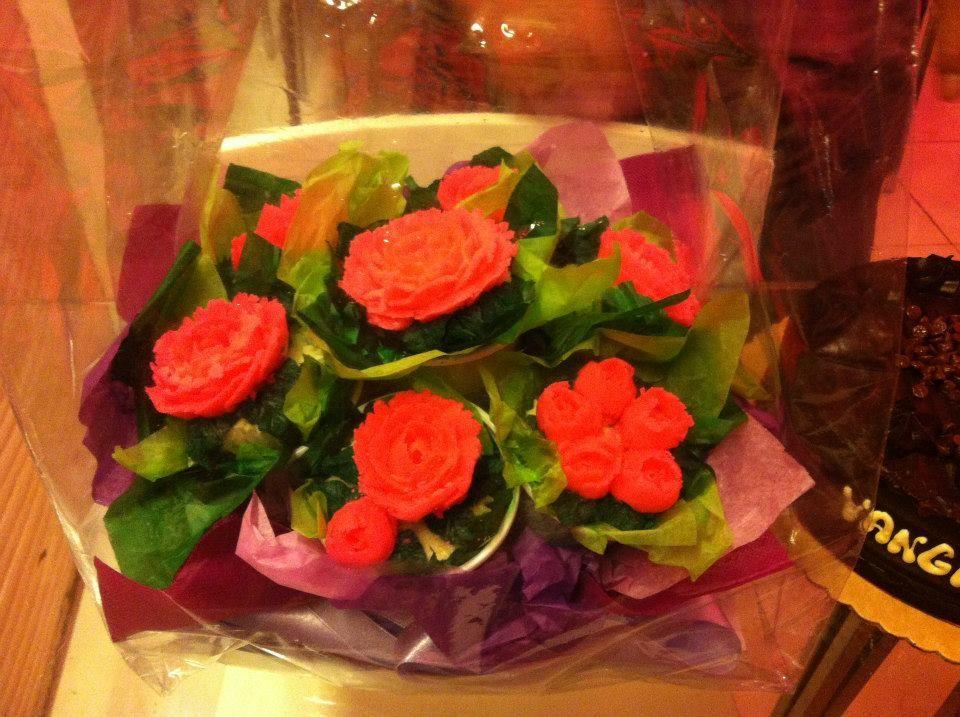 Flower bouquet cupcakes12