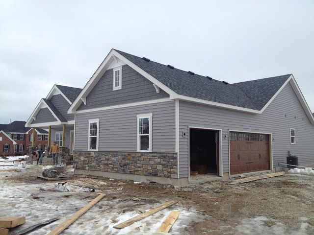 Best The Siding Is Quest Double 5 By Mastic In Harbor Grey 400 x 300