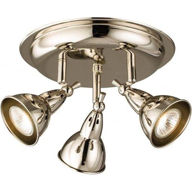 burbidge multi directional spotlight track in bright nickel finish rh pinterest com