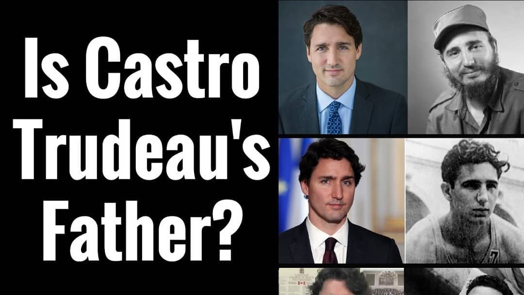 Rumor has it that Canadian Prime Minister Justin Trudeau is not the son of former PM Pierre Trudeau, but is instead the illegitimate son of Cuban dictator Fidel Castro instead. Apparently, Margaret Trudeau visited Cuba about nine months before Justin was born, had a tryst with Castro, and went back to Canada to give birth to Justin.  cuban  fidelcastro  justintrudeau  rumors #visitcuba