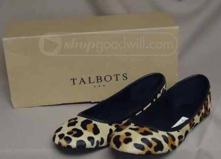 Talbots Animal Print Flats