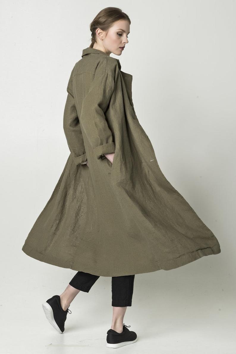 Linen Open Coat Linen Duster