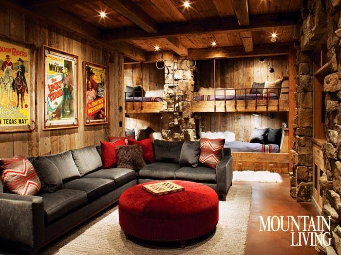 basement home sweet home contemporary family rooms bunk rooms rh pinterest com
