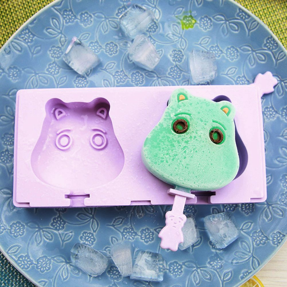 2 Holes Calf Shape Molds Wave Section ice cream Molds Frozen Cube ...