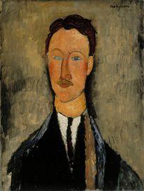 Taidemaalari Léopold Survagen muotokuva | Amedeo Modigliani