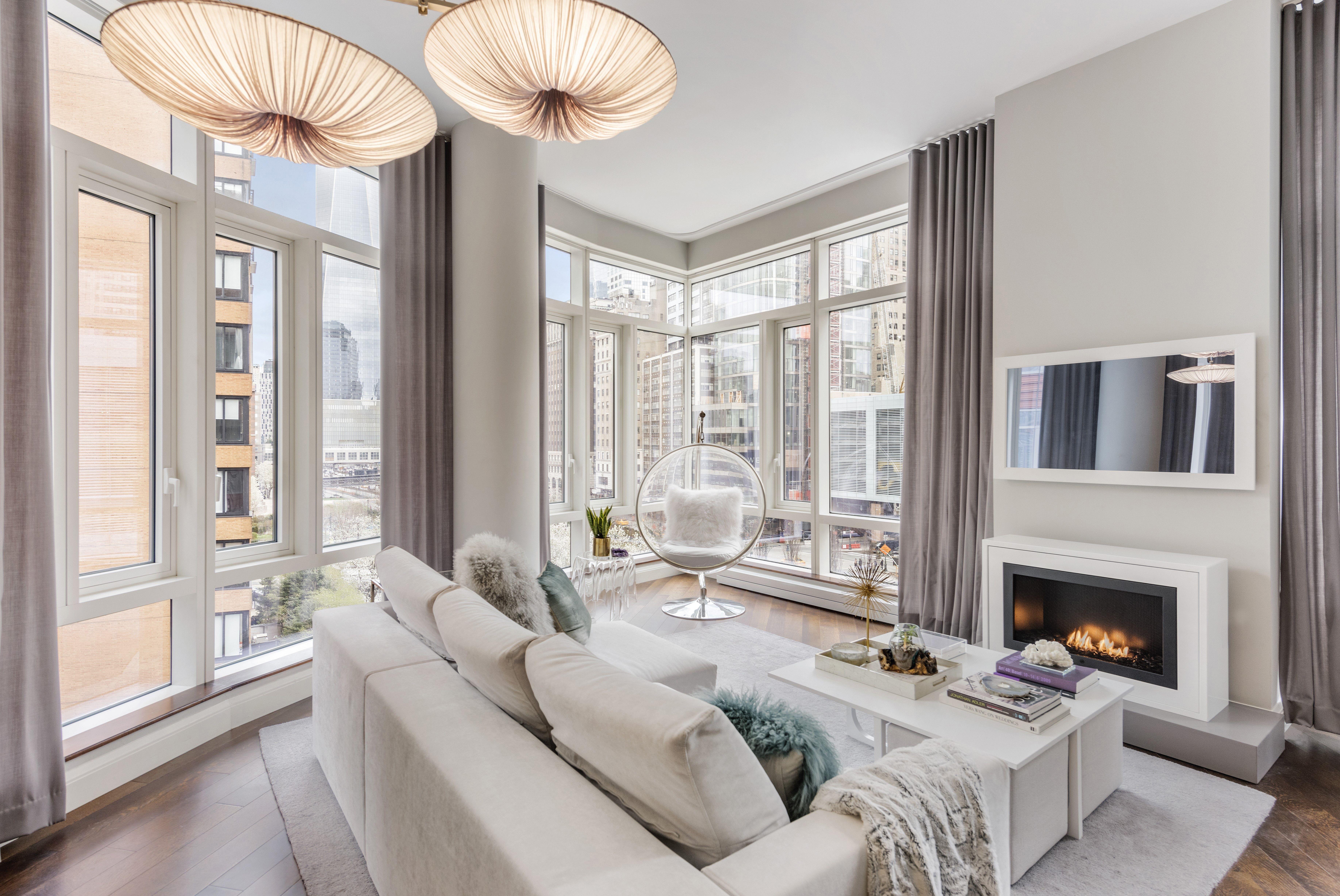 Battery Park City Residence Living Living Contemporary