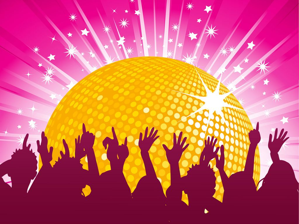 design birthday party invitations free%0A ppt Orange disco ball and crowd party