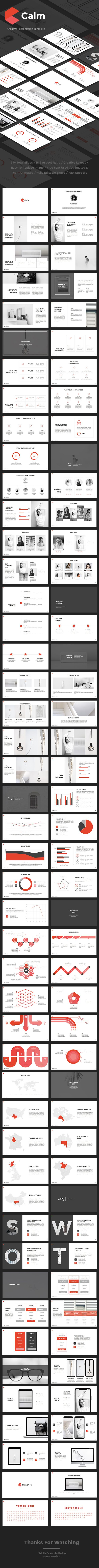 Calm Google Slides | Template, Presentation templates and Business ...