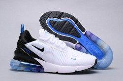Nike Air Max 270 White Blue Black Multi-Color AH8050 300 Trainer Mens Womens Running Shoe