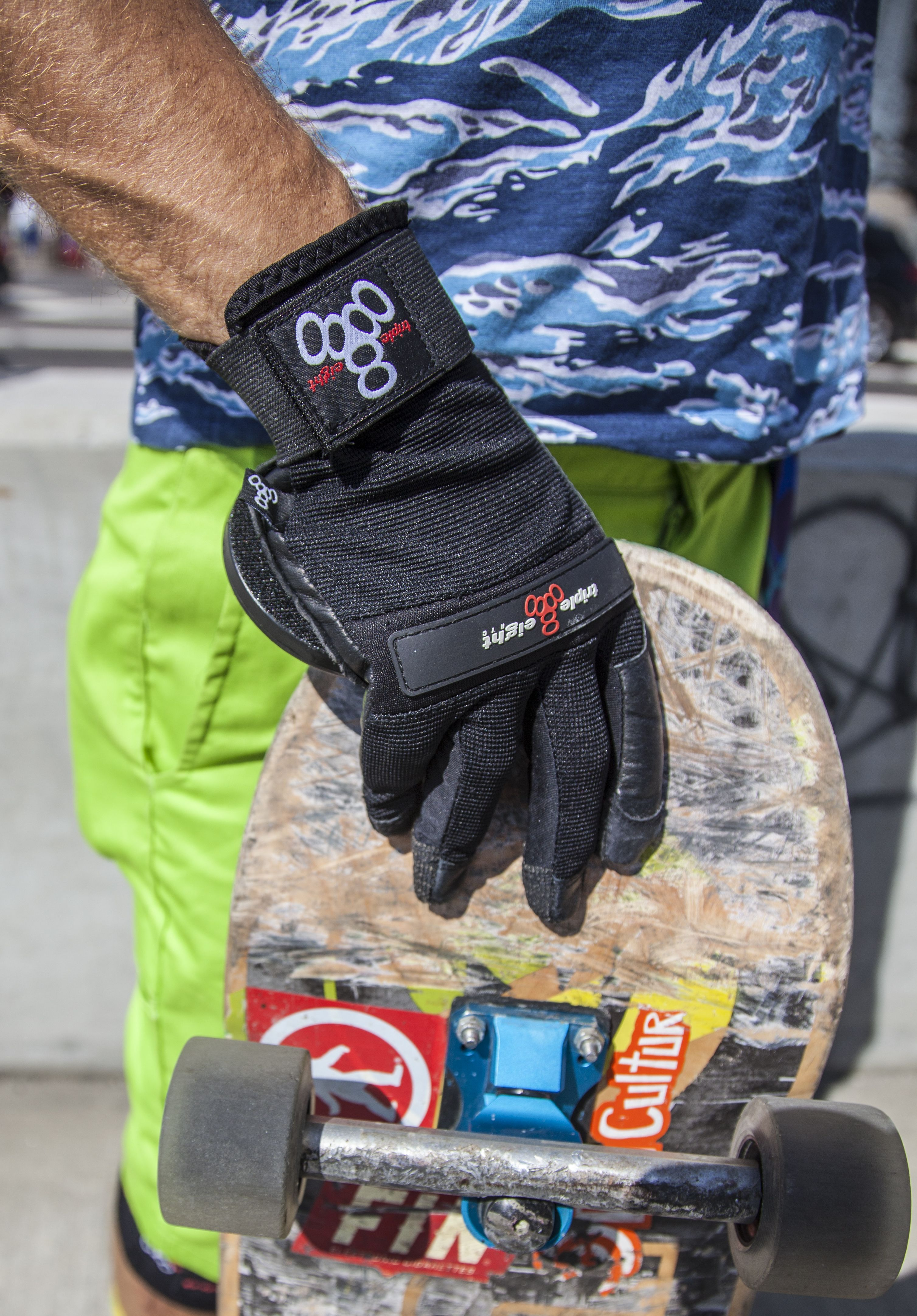 Triple Eight's Downhill Glove is streamlined for a sleek fit with protection in all the right places.