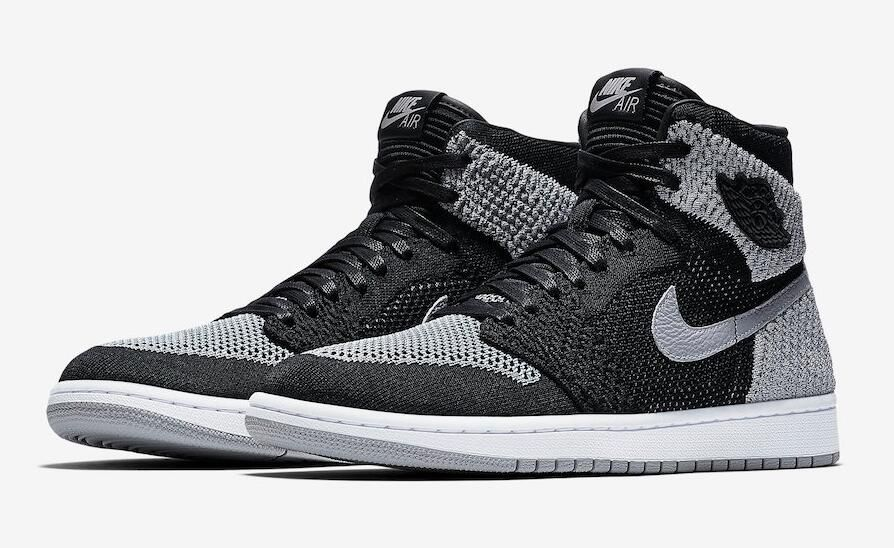 223252d5324f Air Jordan 1 Retro High Flyknit Size Run Mens Color  Black Medium  Grey-White Style Code 919704-003 Release Date  January 13
