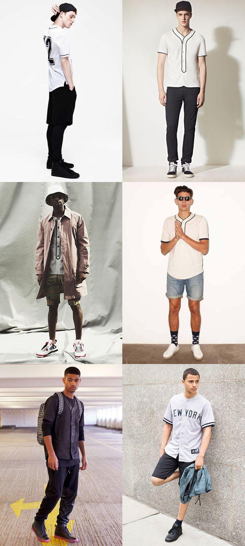 b0cf59ea576f Alternative Tops For Men in High Summer  The Baseball Shirt Lookbook  Inspiration
