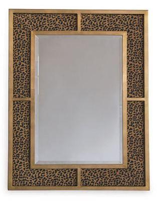Port 68 Bedford Gold or Silver Leaf Wild Leopard Mirror