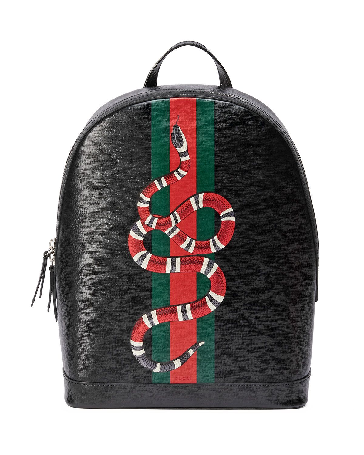 590ccba802ce Gucci Web   Snake Leather Backpack