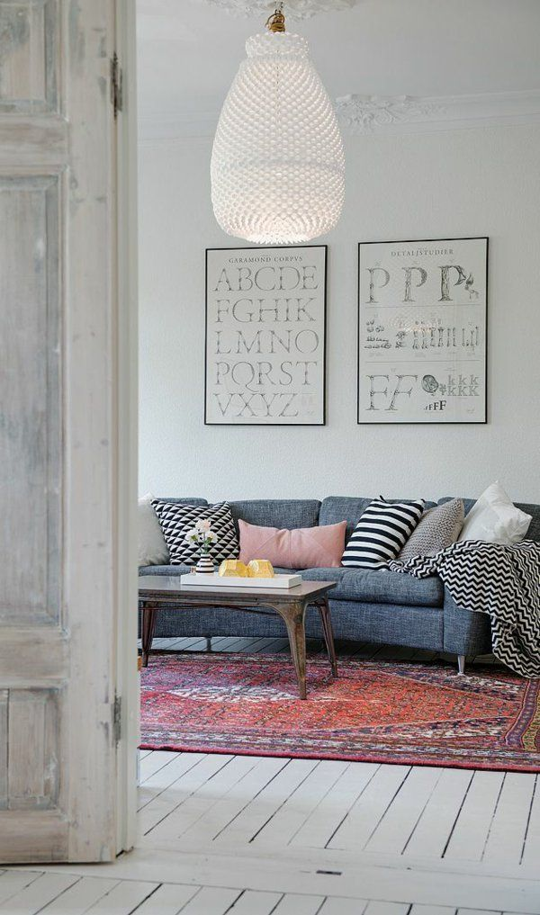 wohnzimmergestaltung ideen bilder design vintage home Pinterest