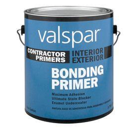 Valspar Gallon Interior Exterior Latex Bonding Primer