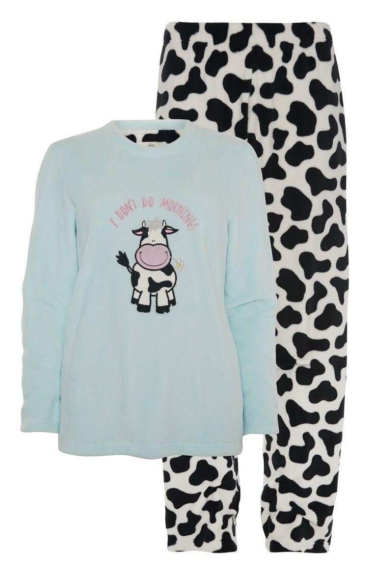 9a91687bad Primark - Cow Print Sherpa PJ Set