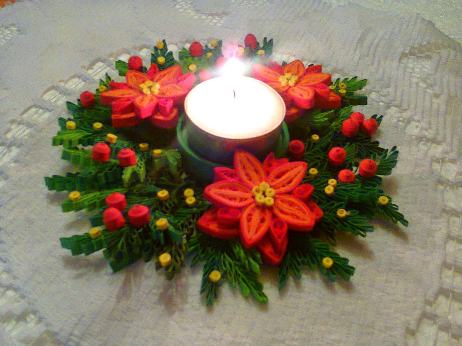 Rekodzielo Wolinki Moja Pasja Moje Hobby Quilling Christmas Quilling Work Quilling Candle Holder