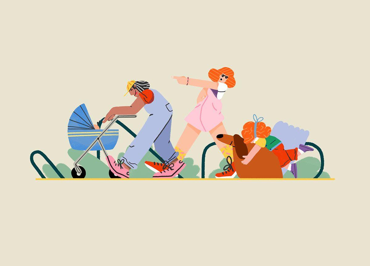 Balfe Park Lane On Behance Graphic Design Studios Character Design Park Lane