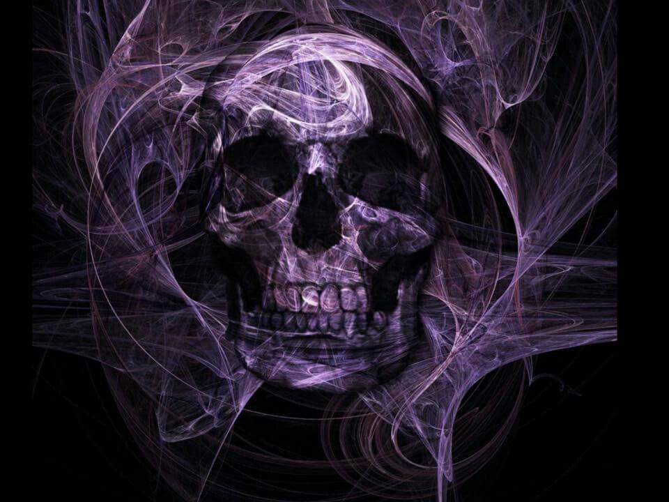 Skull Art 3d Wallpaper Fashion Metal School Bags Illusion Skulls Shoulder