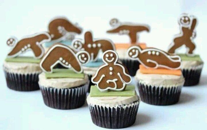 Yoga Cupcakes Mmmm Cupcakes For Men Happy Birthday Yoga