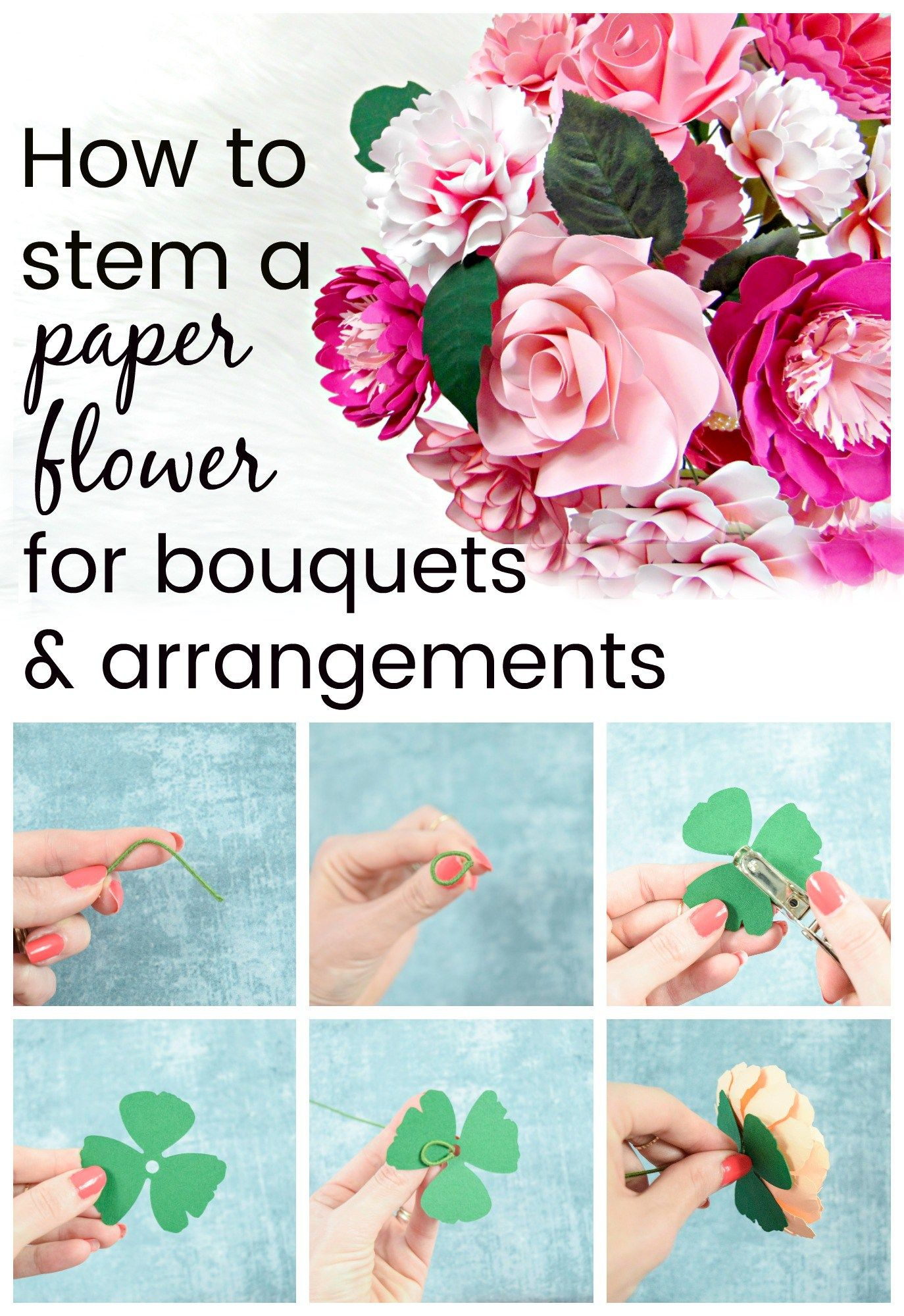 How To Make Stems For Paper Flowers Diy Paper Flowers Share Your