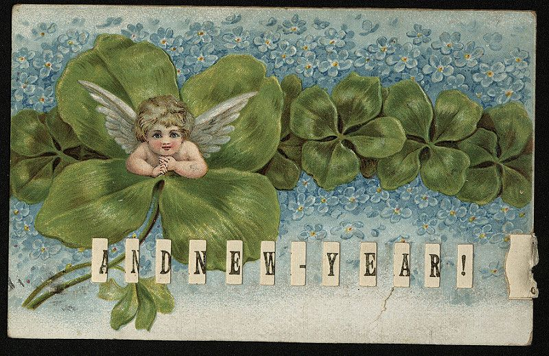 'A Bright Xmas! And New Year! tab postcard (2) | by The Postal Museum