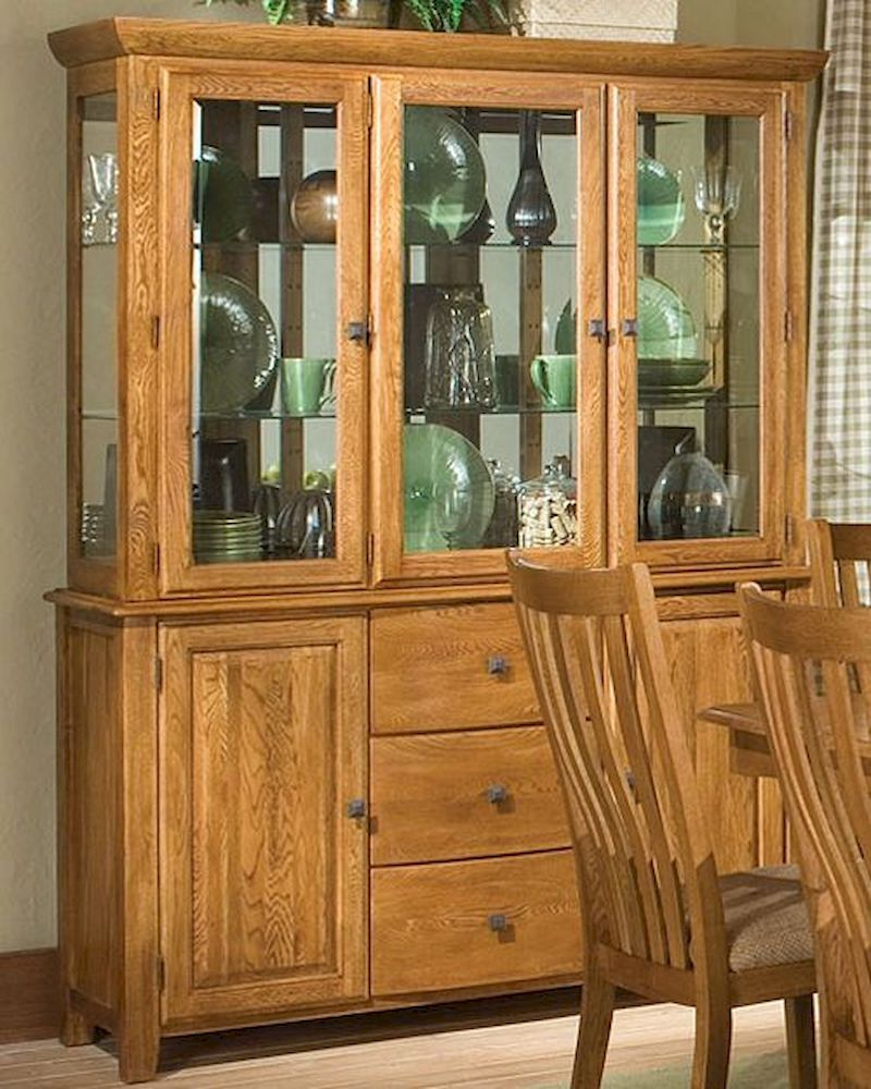 oak china cabinet intercon solid oak buffet hutch highland park inhp6034 23838