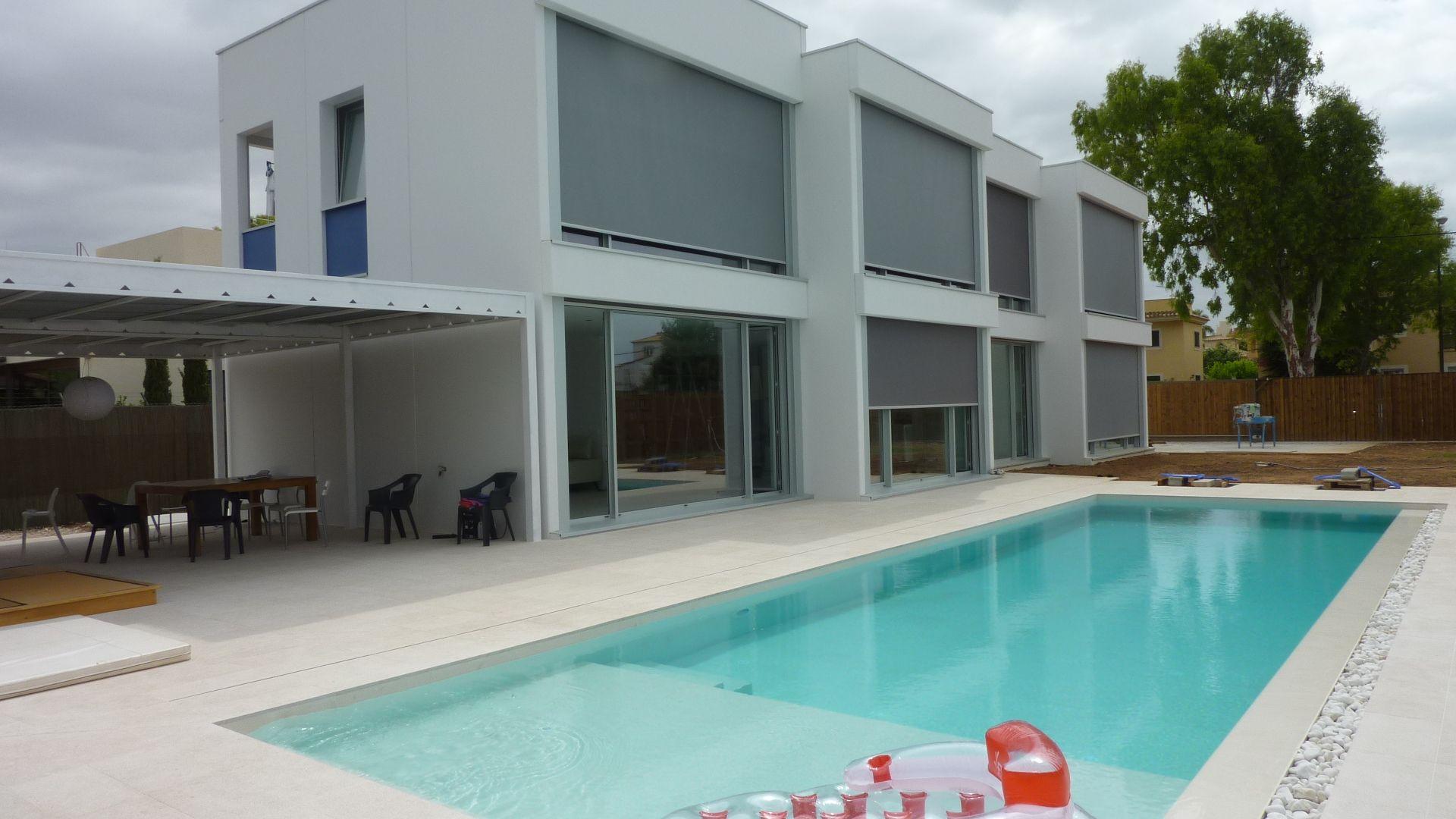 Exterior piscina porche moderno casas via for Muebles porche