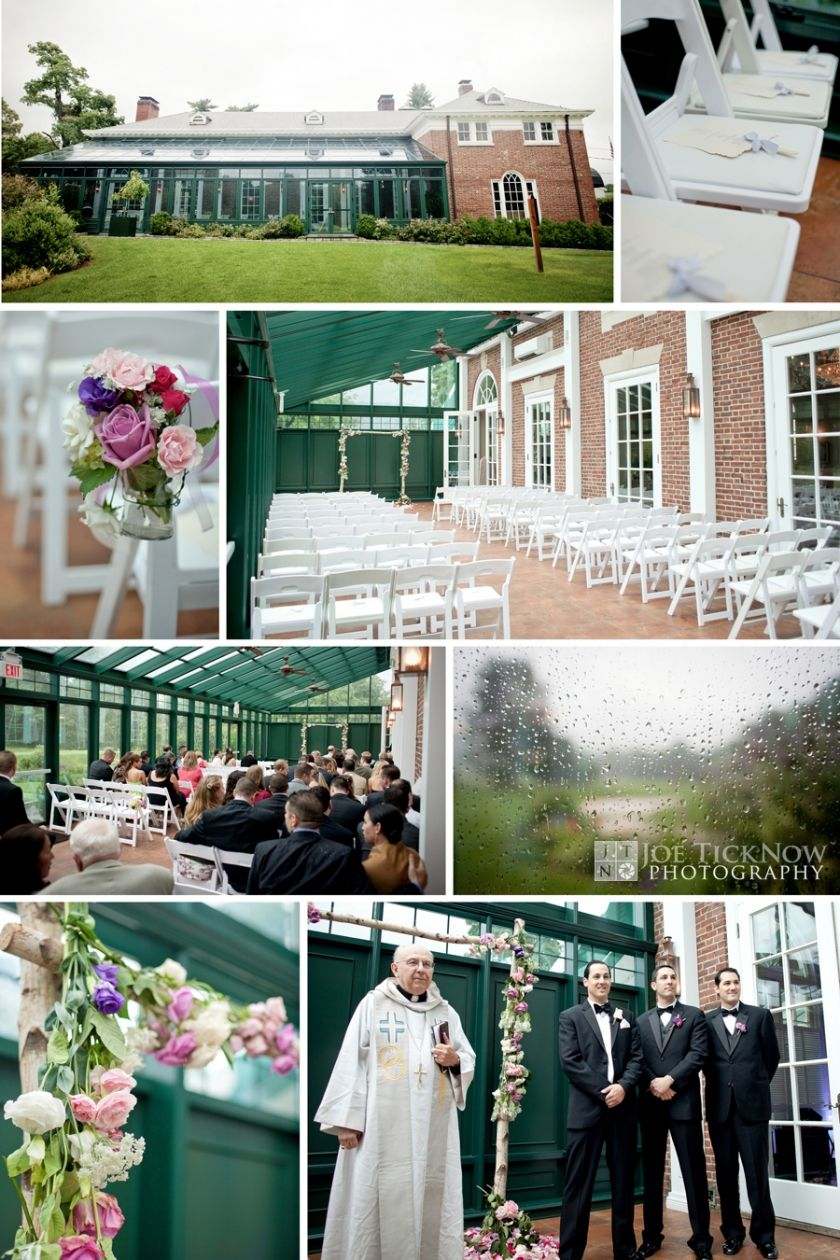 wedding ceremony new york city%0A Solarium Ceremony at Highlands Country Club    Garrison NyCountry