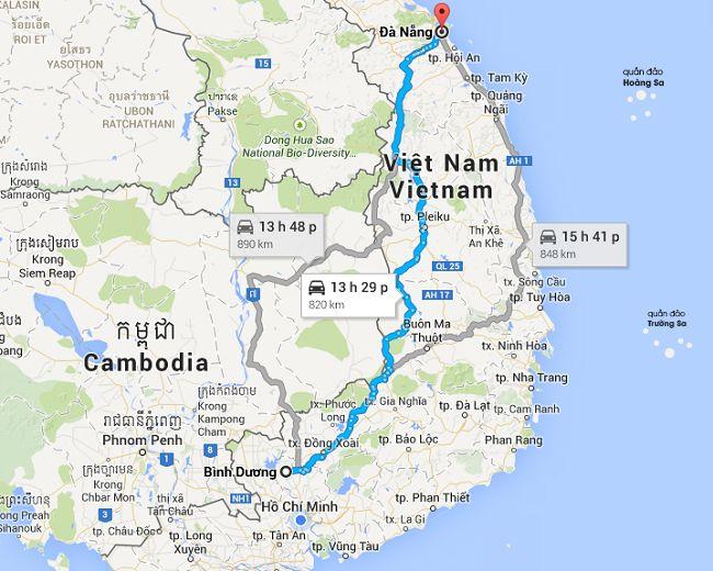 Dịch vụ vận chuyển hàng hóa 2 chiều Bình Dương Đà Nẵng của Proship.vn