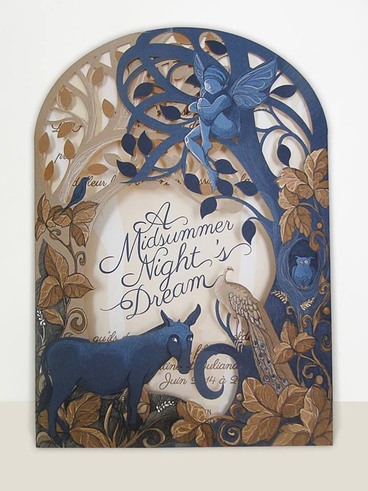 party invitations after wedding%0A Midsummer nights dream invitation we designed to bring to reality your  enchanted forest party