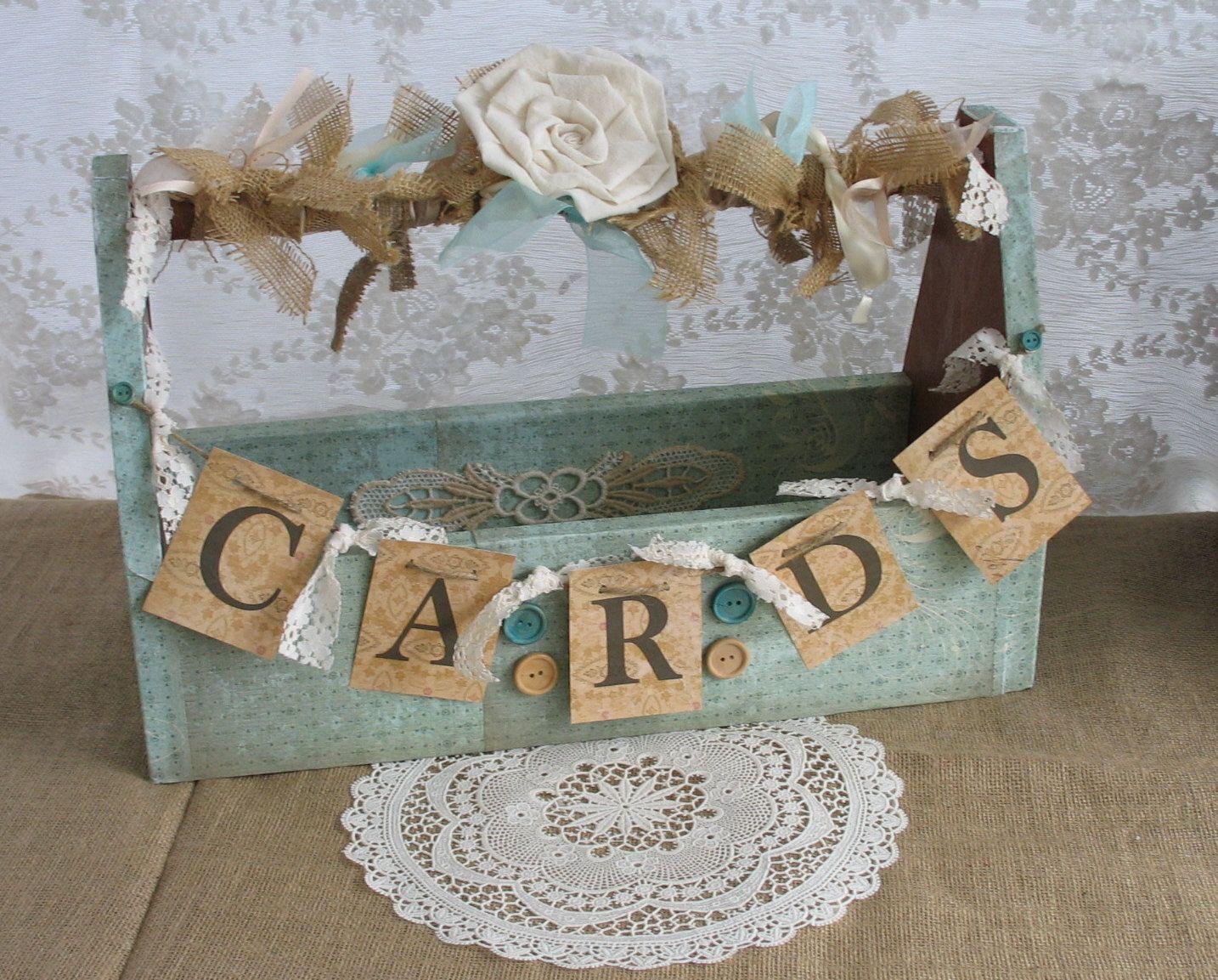 wood wedding card holders%0A Wedding Card Holder Shabby Chic Wedding Rustic Country Wedding          via  Etsy