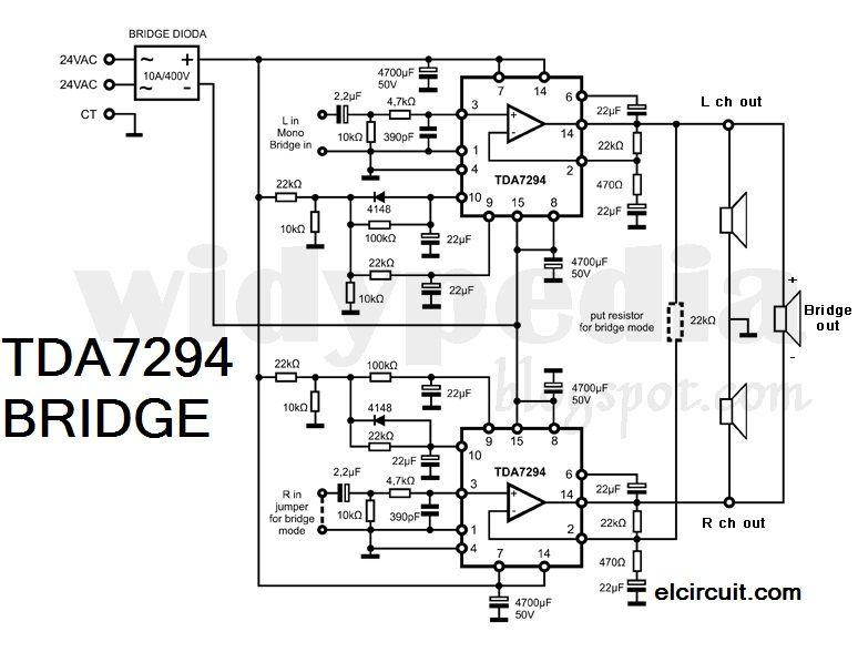 bridge tda 7294 power amplifier