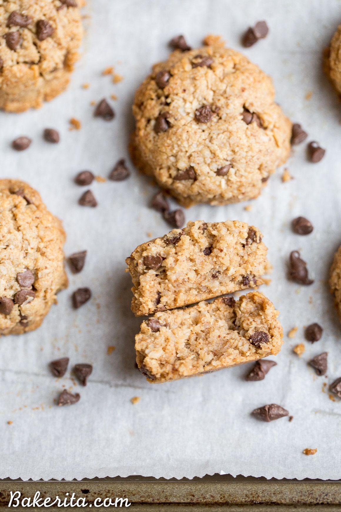 Chocolate chip macaroons gluten free paleo vegan