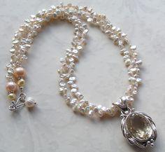 citrine & freshwater keishi pearls