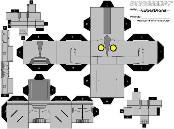 Cubee iron giant by cyberdroneiantart on deviantart my custom cubeecraft cutout template of the iron giant from the film the iron giant cubee iron giant pronofoot35fo Gallery