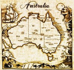 Vintage australia map drawing cross stitch pinterest vintage australia map drawing gumiabroncs Image collections