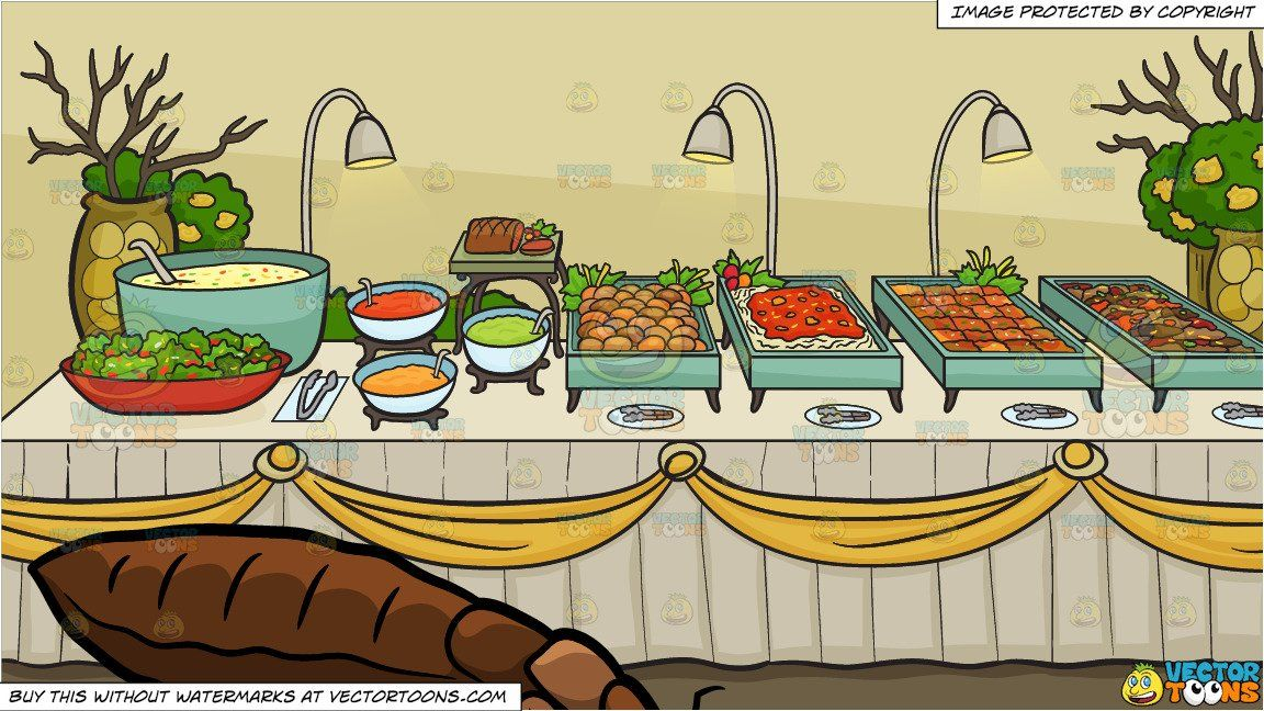 a long and fat bed bug and a savory food buffet table background rh pinterest com