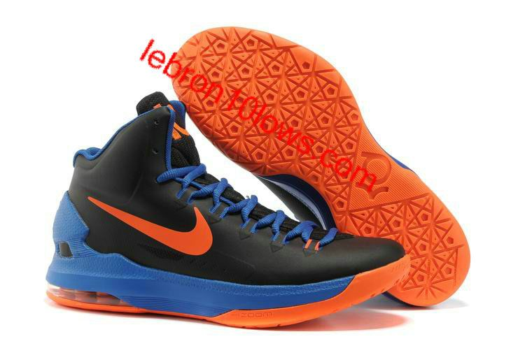 Nike Zoom KD 5 Mens Shoes Black Blue Orange