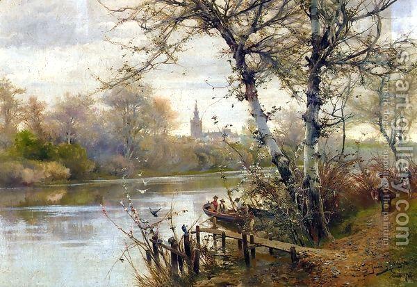 A River Landscape With Seville Beyond In 2020 Famous Landscape Paintings Painting Canvas Art Prints