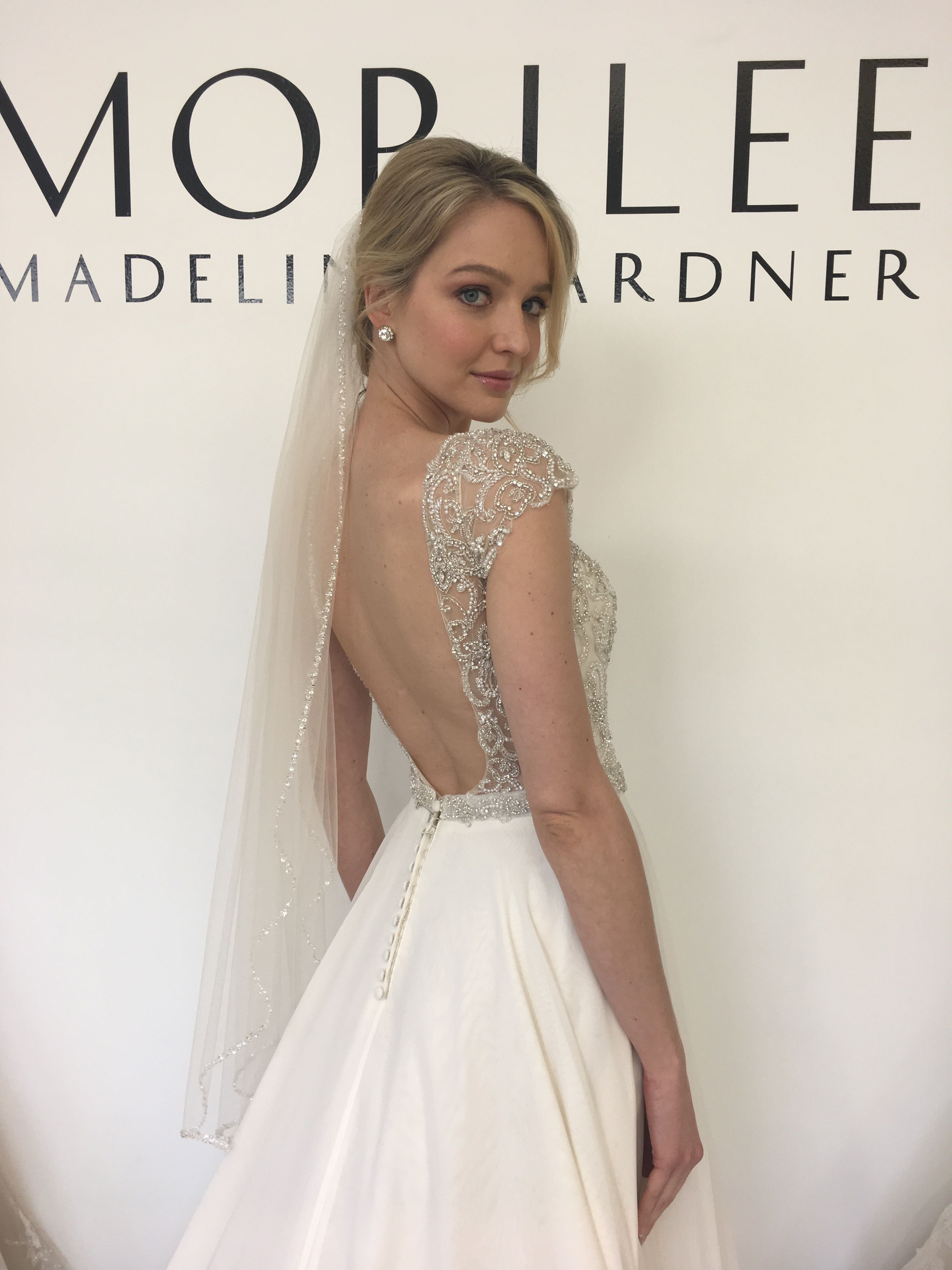 b8a1abf3a8d Morilee by Madeline Gardner Vintage Inspired Mollie Wedding Dress. Gatsby  Glam Beading on a Cap Sleeve Sweetheart Neckline Bodice.