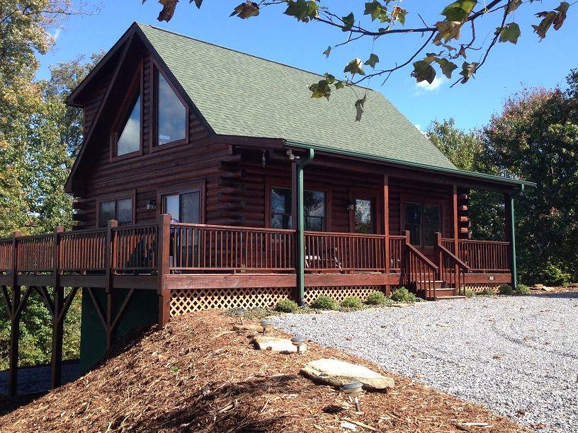 log home on 1 4 acres grandview peaks cabins rustic things rh pinterest com