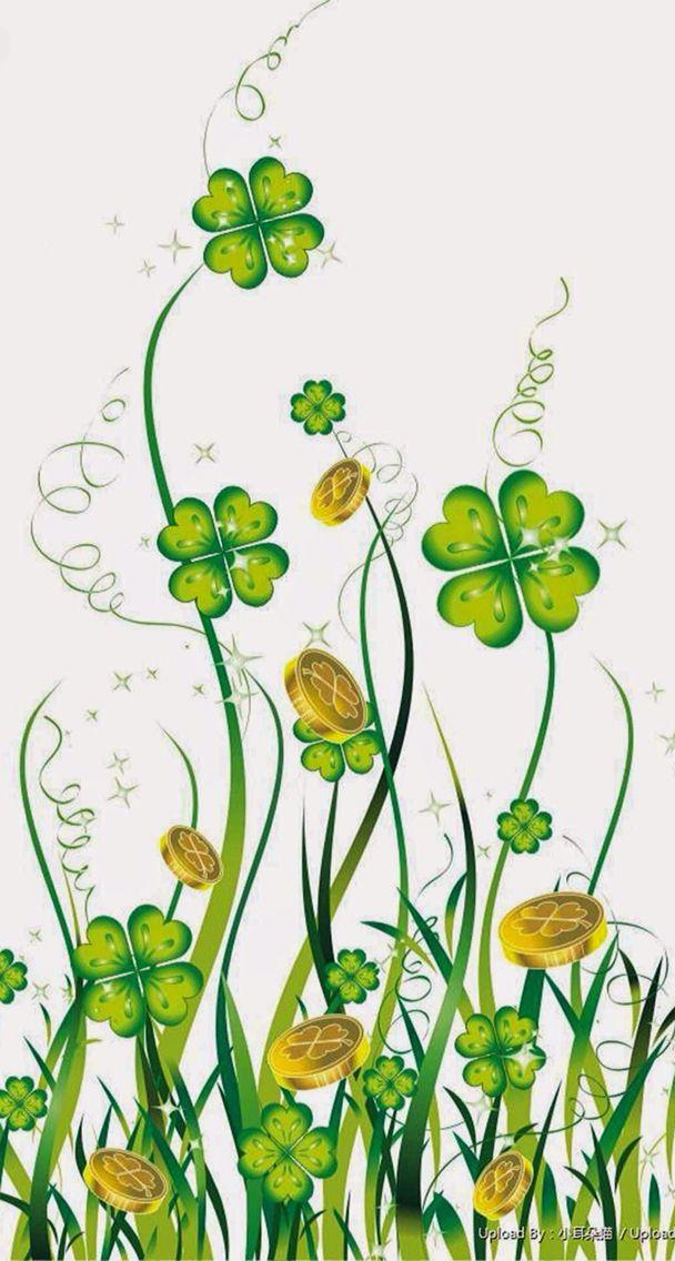 Four Leaf Clover St Patricks Day Wallpaper Wallpaper Backgrounds Backgrounds Phone Wallpapers