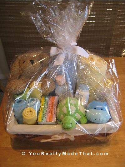 Adorable Baby Gift Basket Pin For
