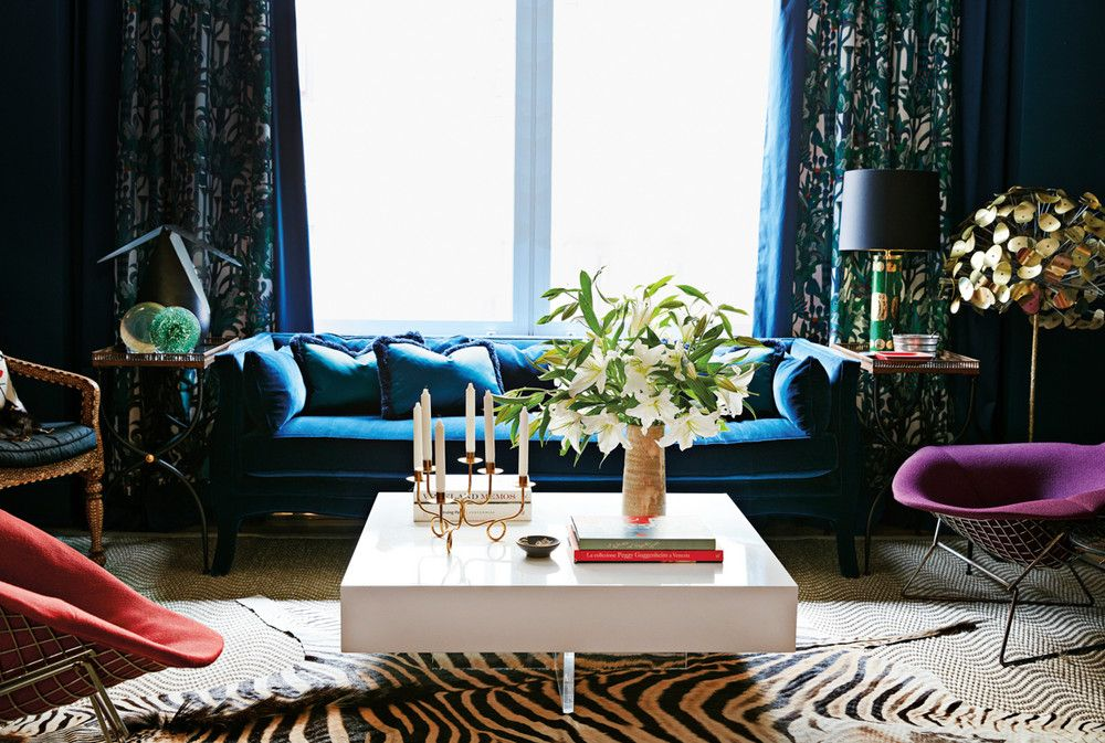 Black and Blue and Purple Living room