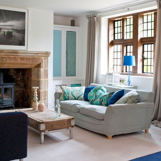 colourful country living room home design country house interior rh pinterest com